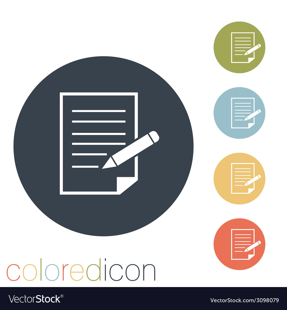 Sheet of paper with pen vector | Price: 1 Credit (USD $1)