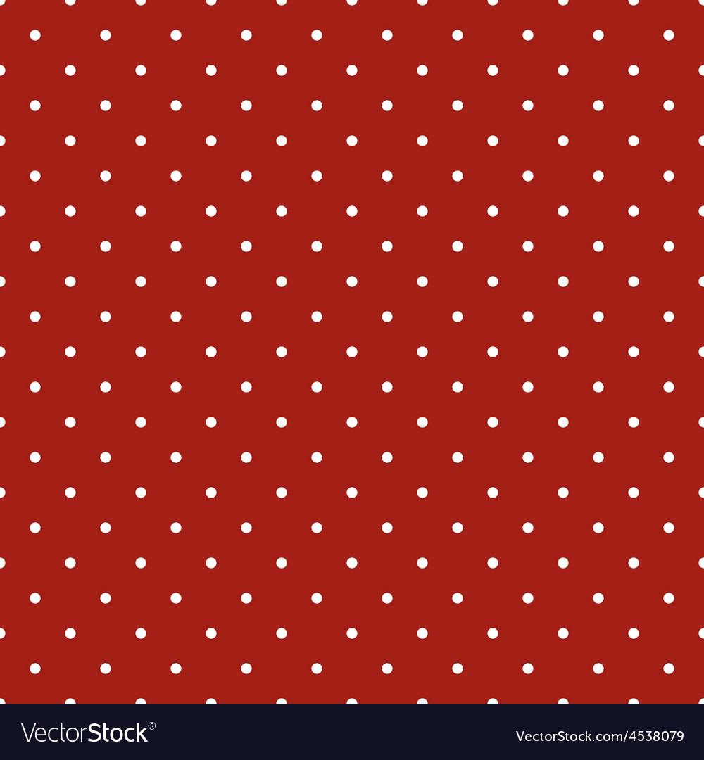 Tile pattern white polka dots dark red background vector | Price: 1 Credit (USD $1)