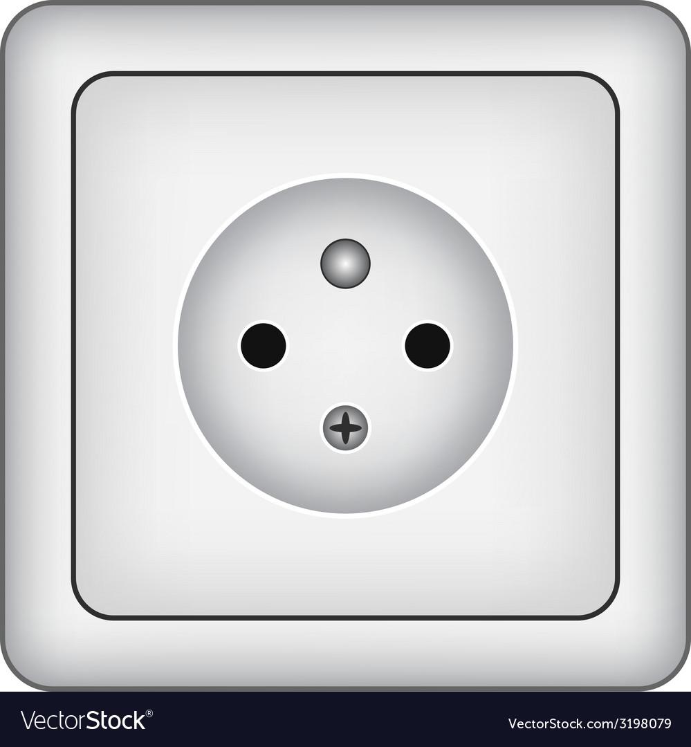 Wall socket vector | Price: 1 Credit (USD $1)