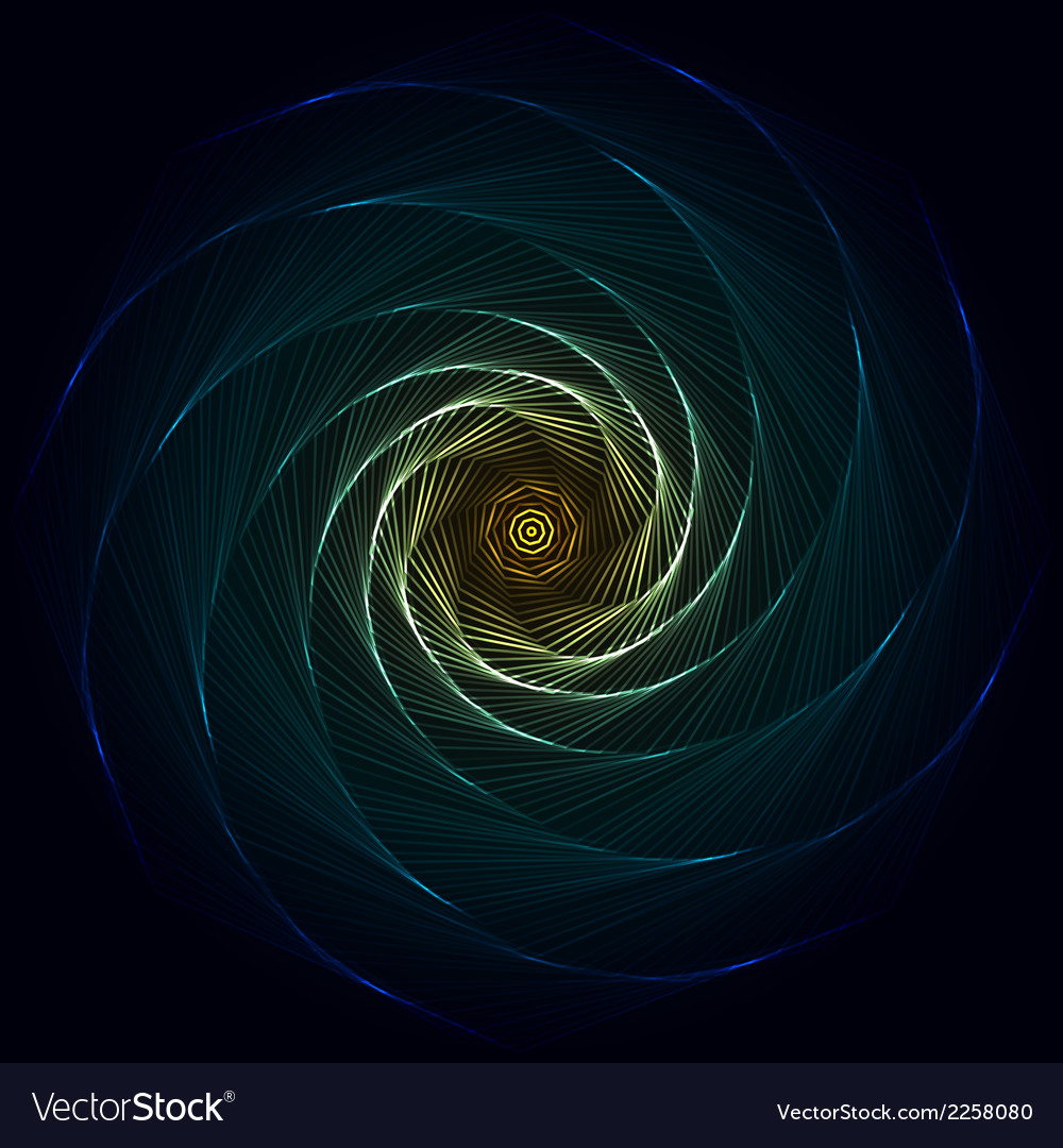 Abstract flame spiral on black background vector | Price: 1 Credit (USD $1)