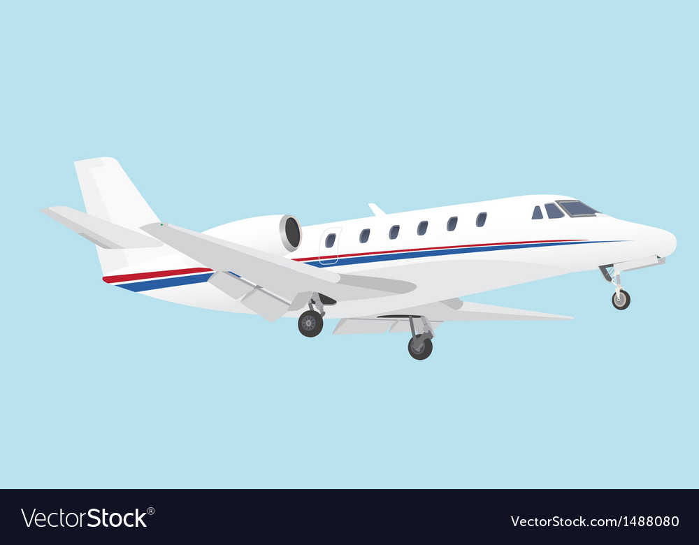 Business jet vector | Price: 1 Credit (USD $1)