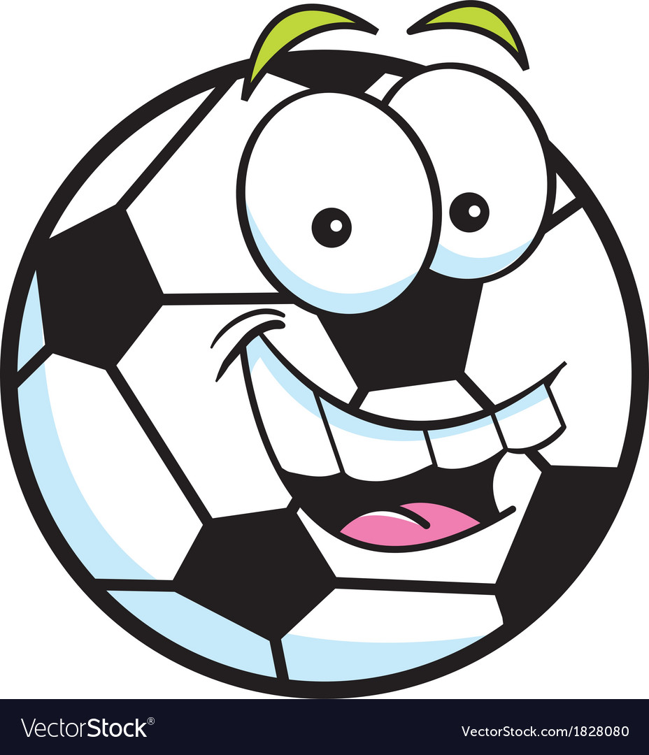 Cartoon soccer ball vector | Price: 1 Credit (USD $1)