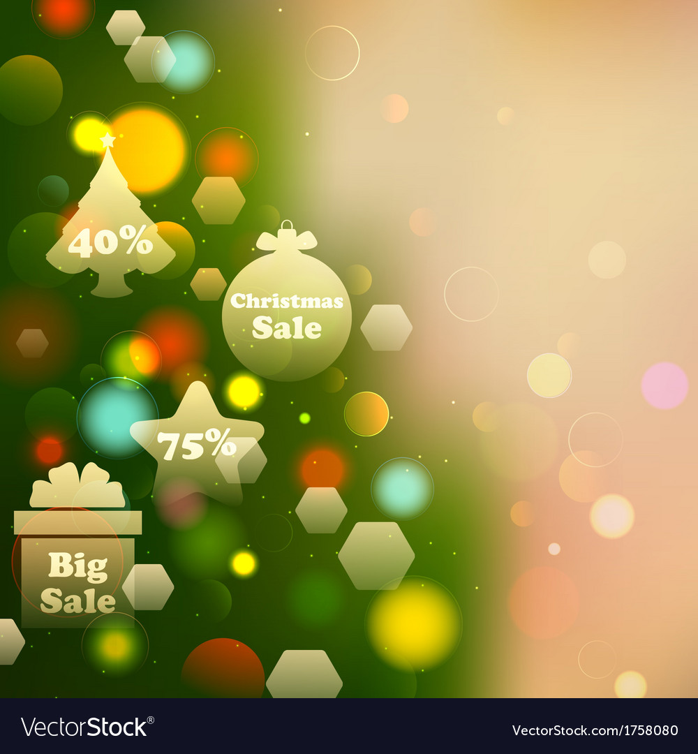 Christmas offer on bokeh effect background vector | Price: 1 Credit (USD $1)