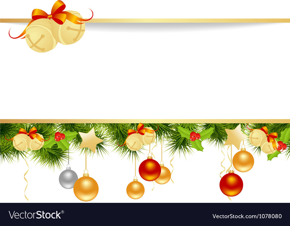 Christmas pine frame 2 vector | Price: 1 Credit (USD $1)