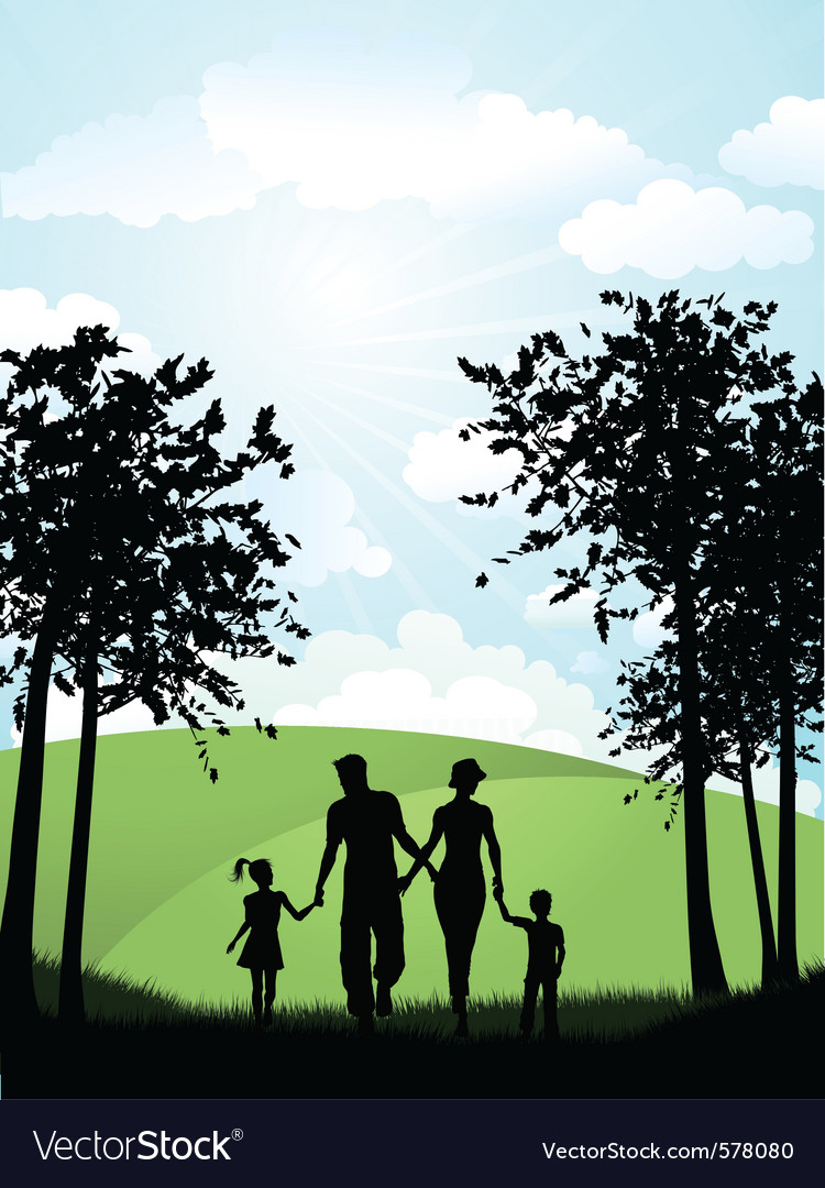 Family park vector | Price: 1 Credit (USD $1)