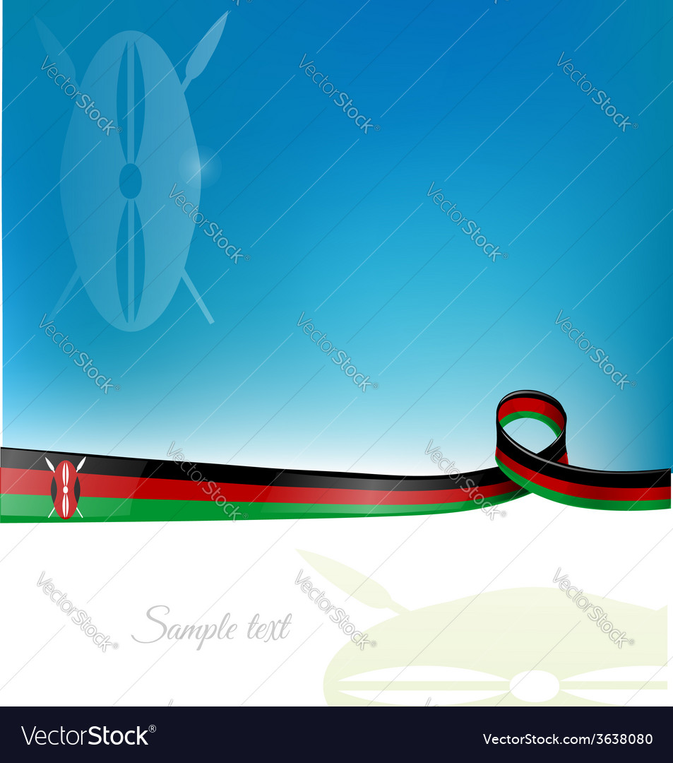 Kenya flag background vector | Price: 1 Credit (USD $1)