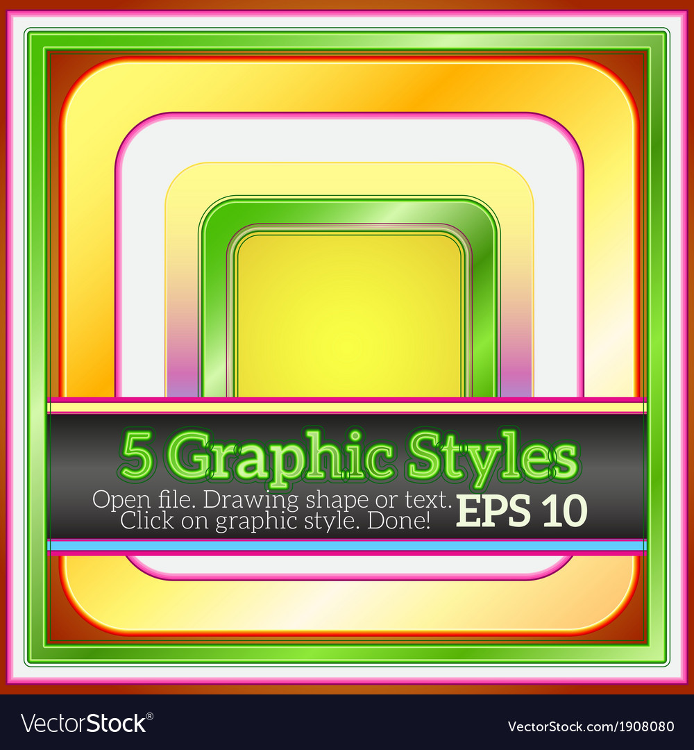 Set of bright funny various styles for design vector | Price: 1 Credit (USD $1)