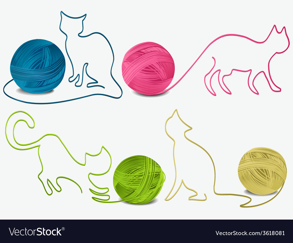 Abstract wool cats vector | Price: 1 Credit (USD $1)