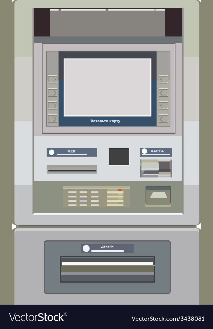 Atm frontally painted vector | Price: 1 Credit (USD $1)