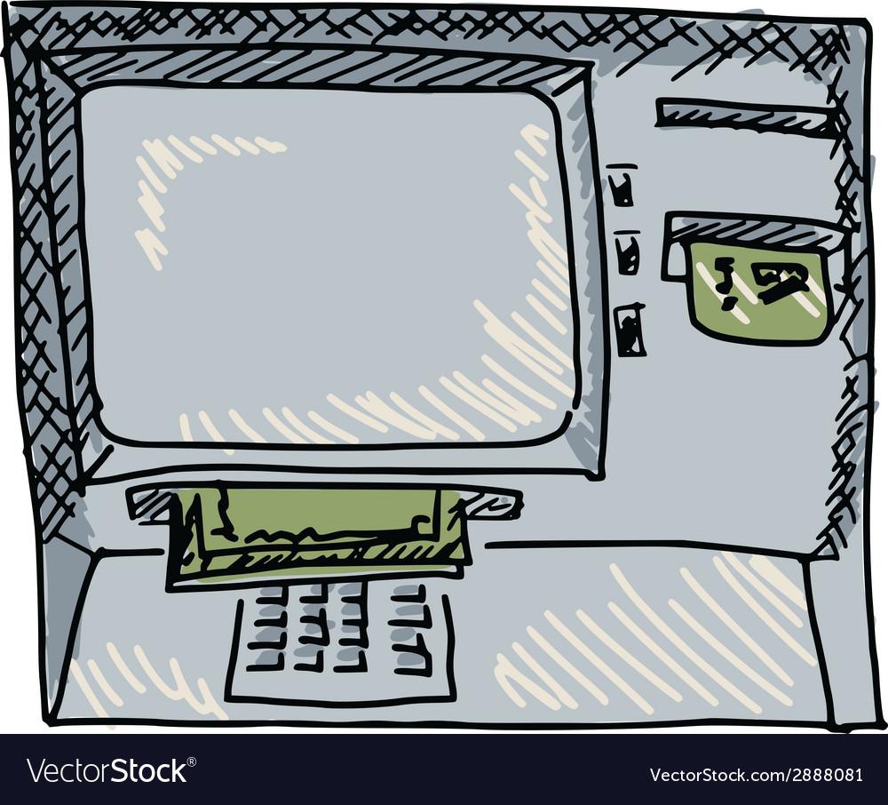 Cash machine vector | Price: 1 Credit (USD $1)