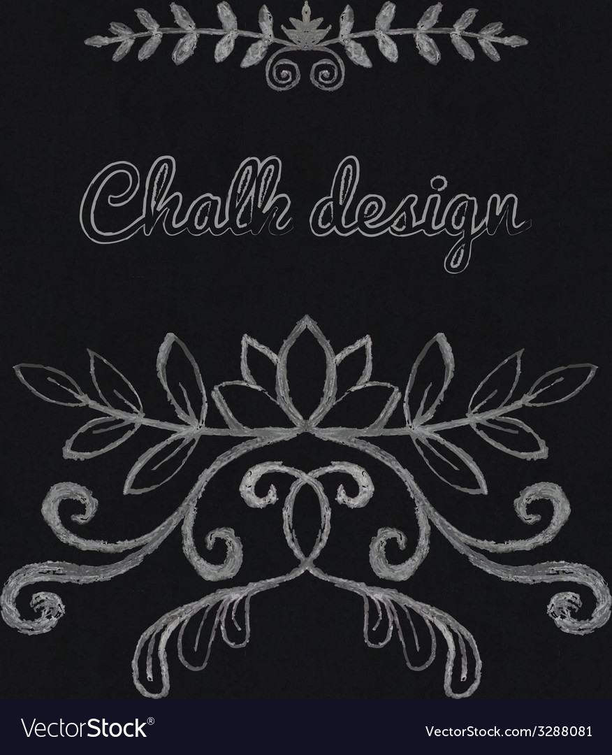 Chalk floral ornament vector | Price: 1 Credit (USD $1)