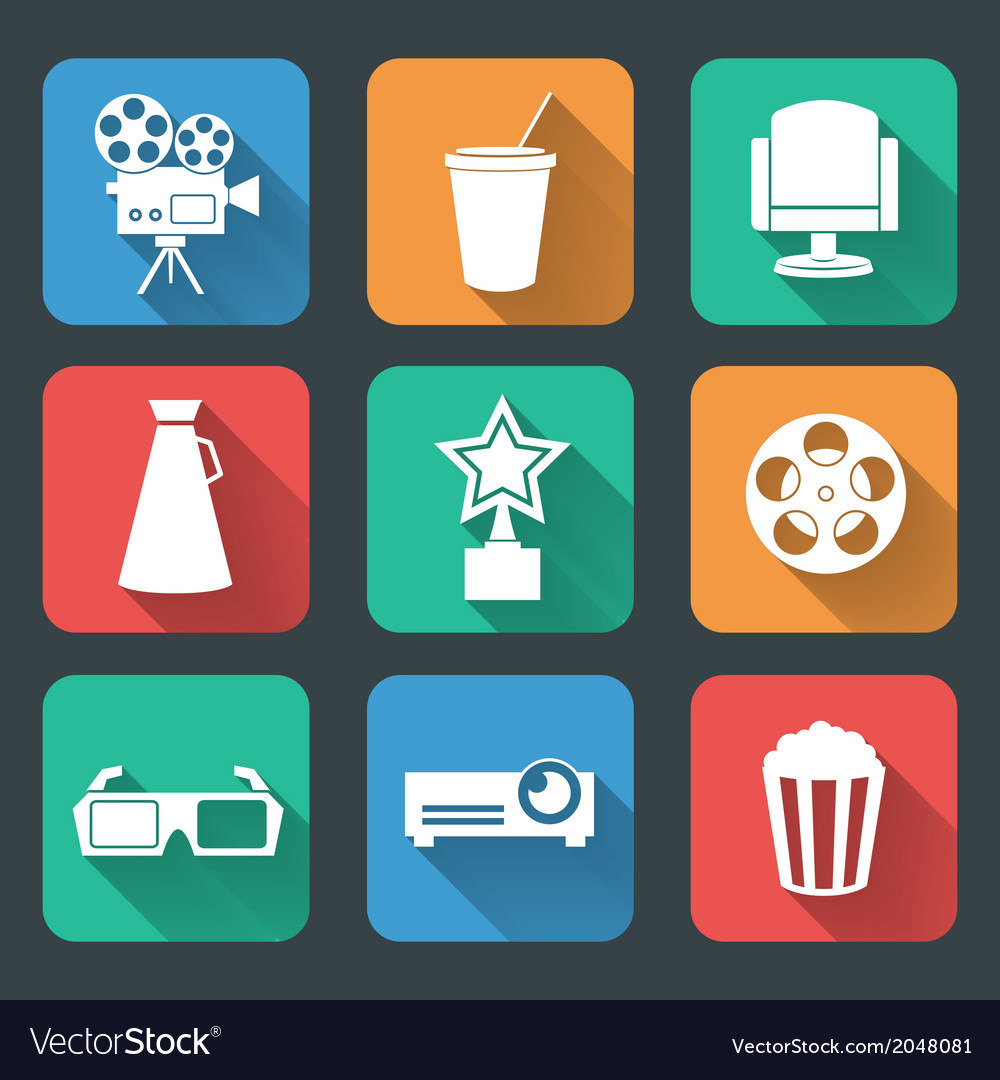 Cinema entertainment pictograms collection vector | Price: 1 Credit (USD $1)