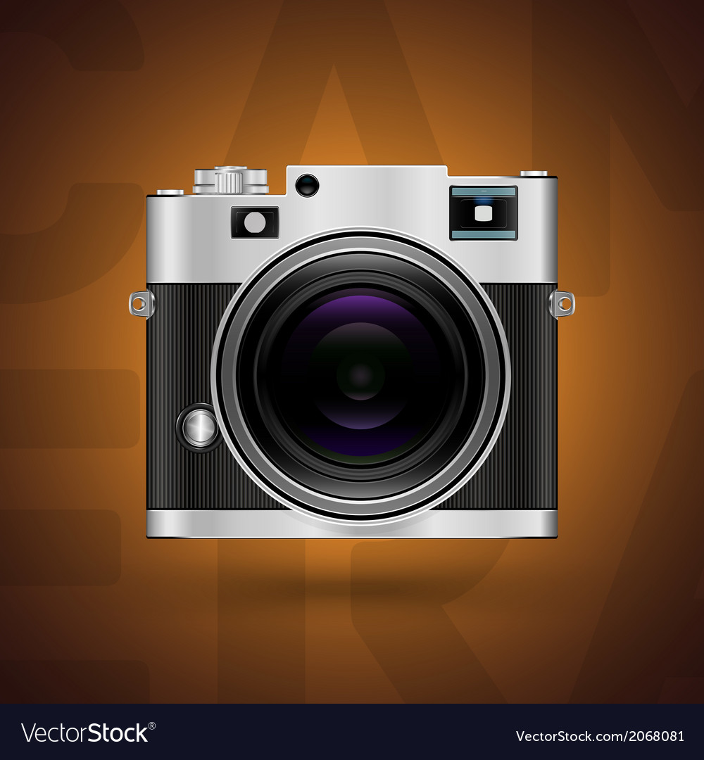 Classic camera icon on brown background vector | Price: 1 Credit (USD $1)