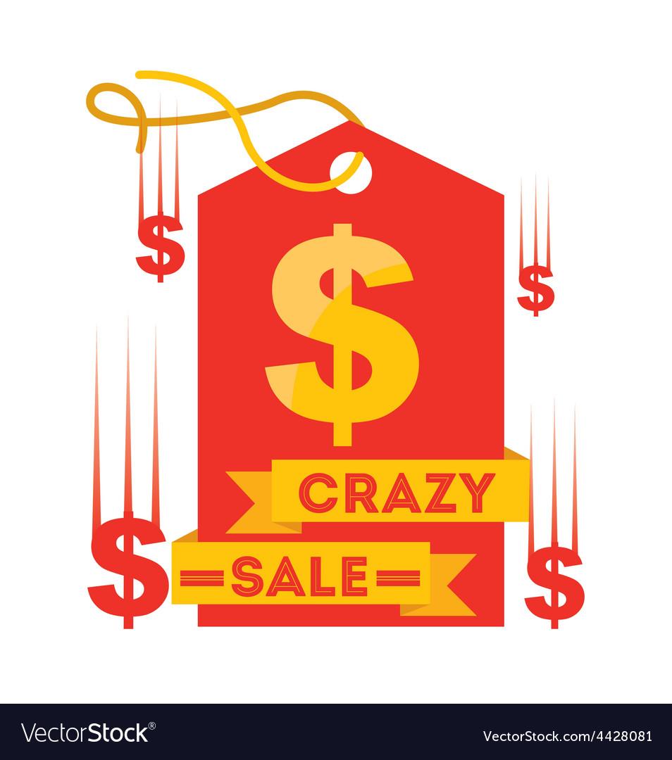 Crazy sale vector | Price: 1 Credit (USD $1)