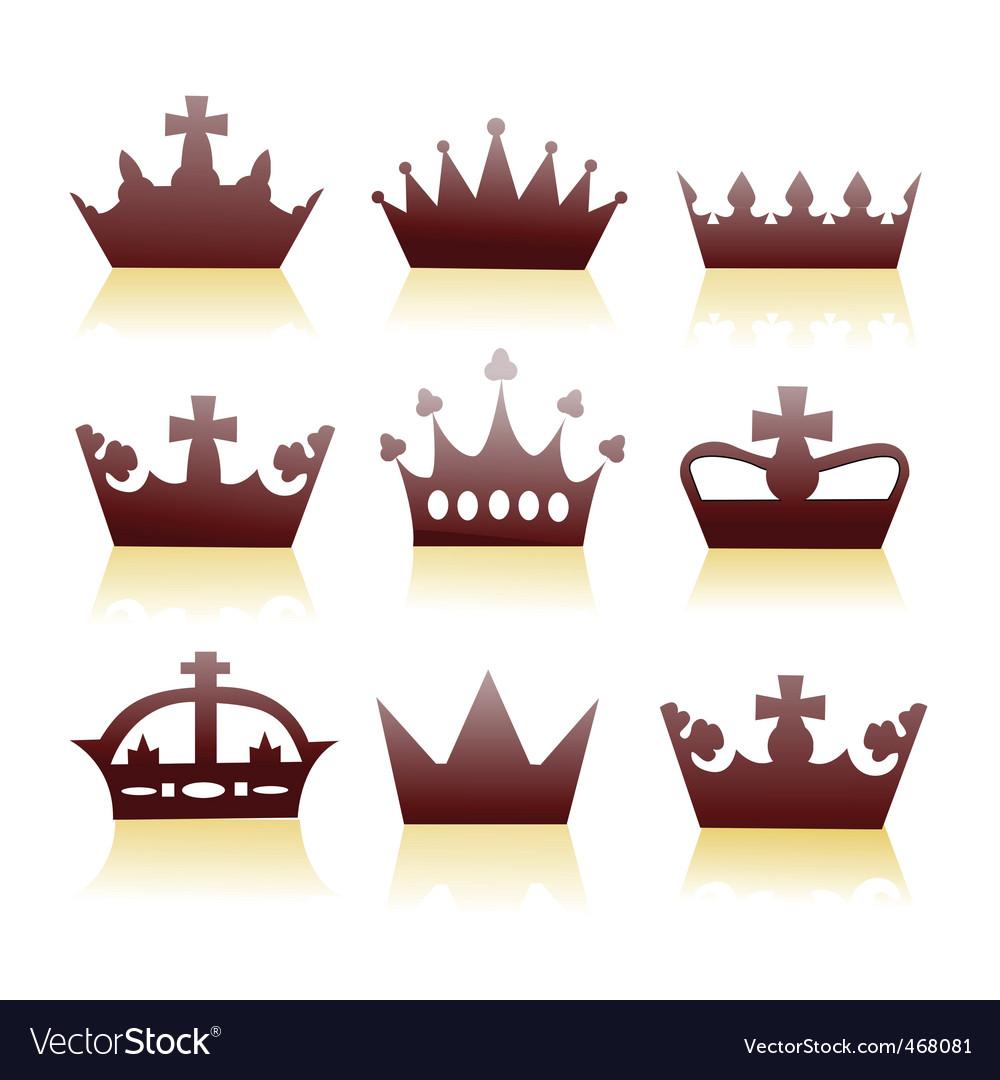 Crowns vector | Price: 1 Credit (USD $1)