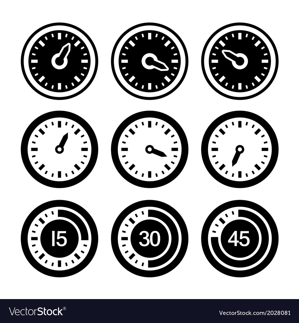 Dial and timers icons set vector | Price: 1 Credit (USD $1)