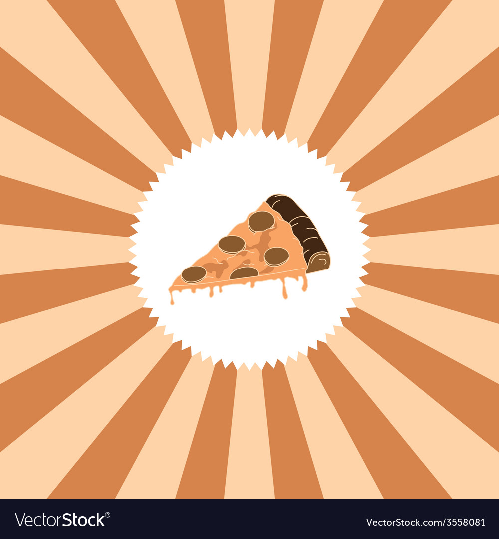 Food and drink theme pizza vector | Price: 1 Credit (USD $1)