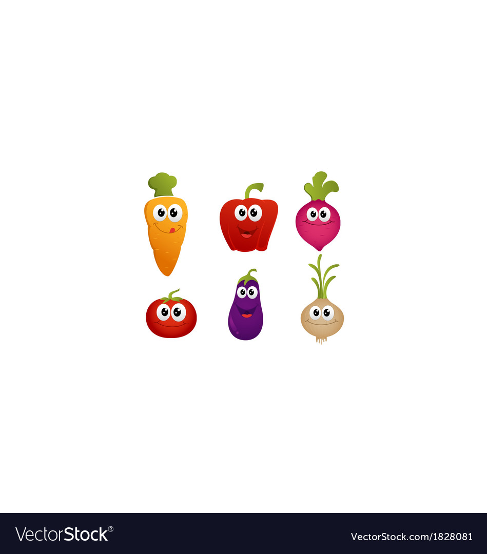 Funny cartoon vegetable vector | Price: 1 Credit (USD $1)