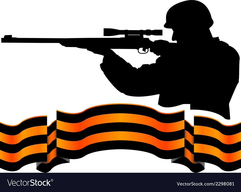 Georgievsky ribbon and sniper vector | Price: 1 Credit (USD $1)