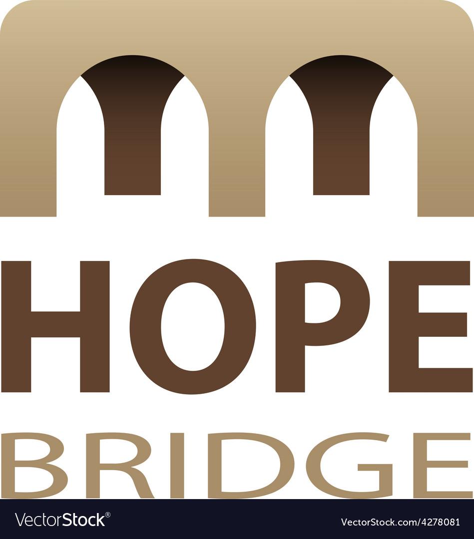 Hope bridge abstract icon vector | Price: 1 Credit (USD $1)