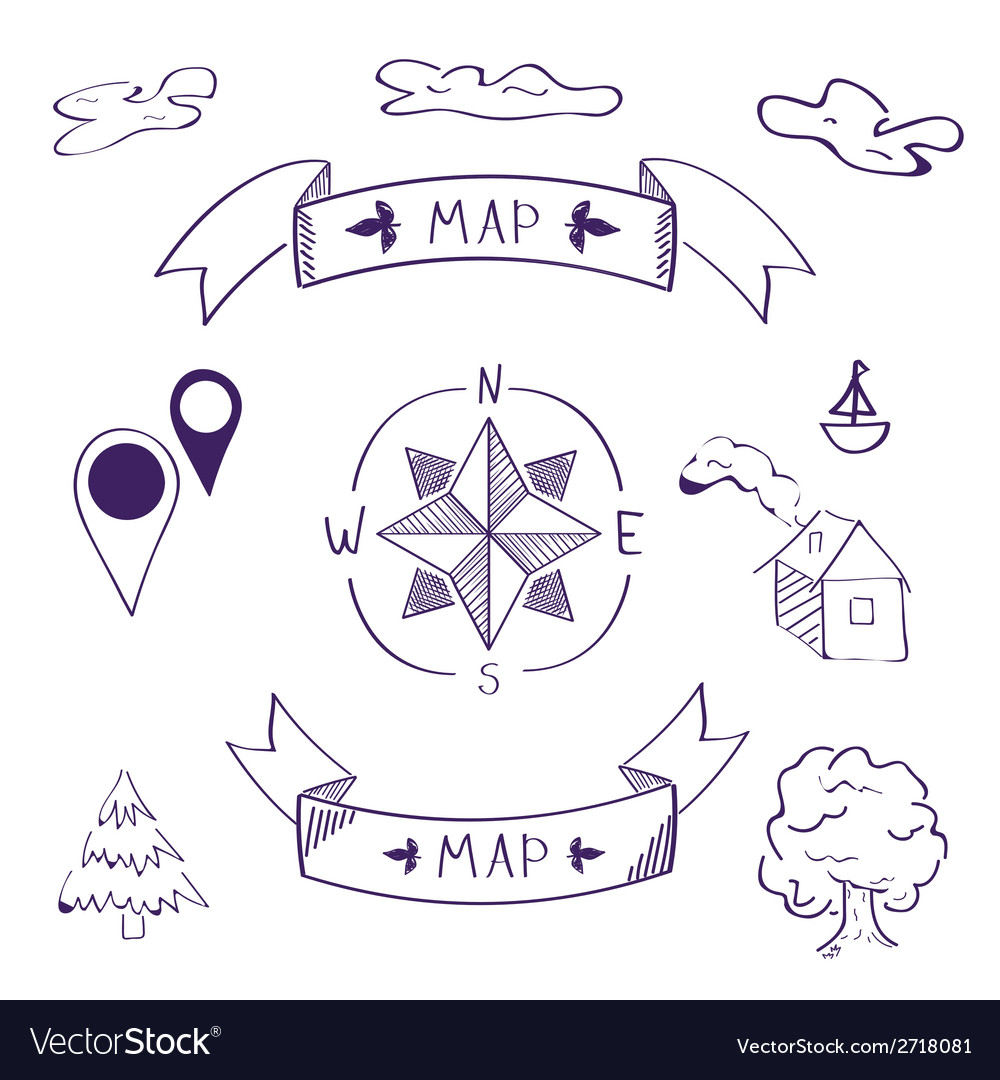 Map of sketch vector | Price: 1 Credit (USD $1)