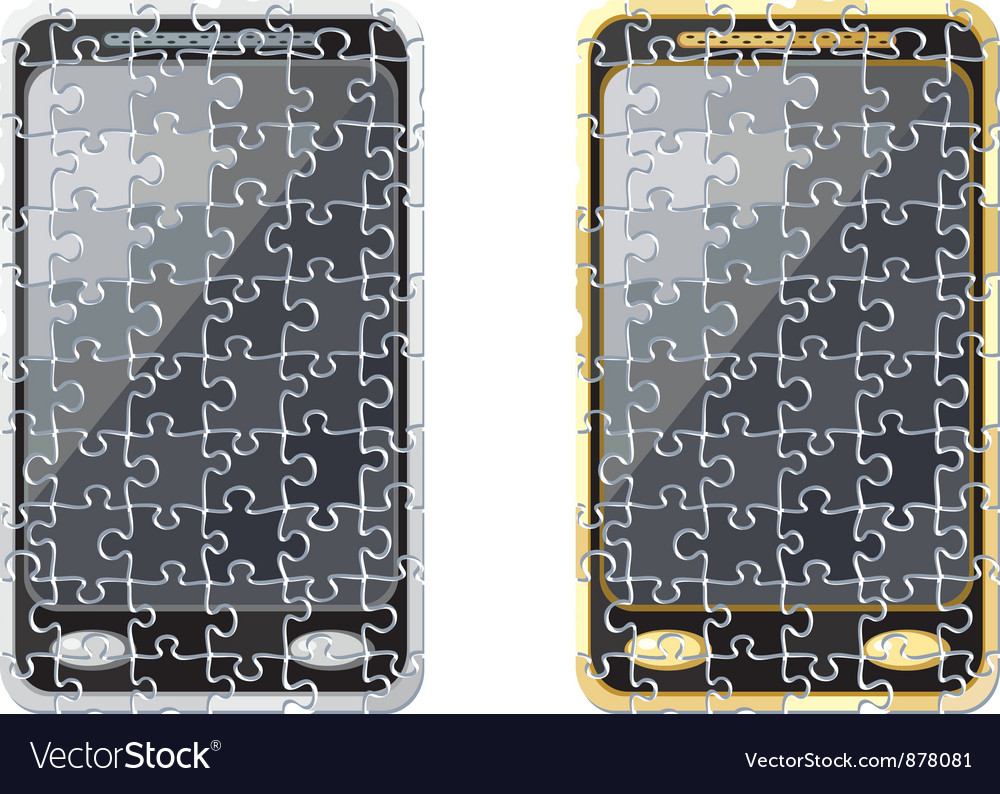 Puzzle smart phone vector | Price: 1 Credit (USD $1)