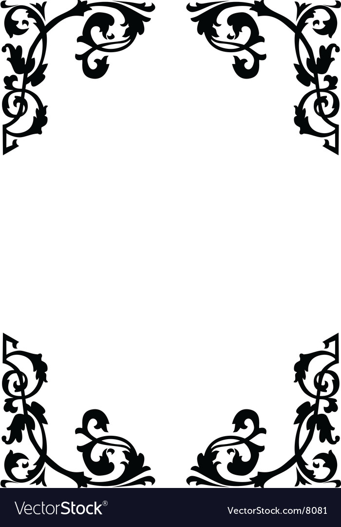 Victorian ornamental page borders vector | Price: 1 Credit (USD $1)
