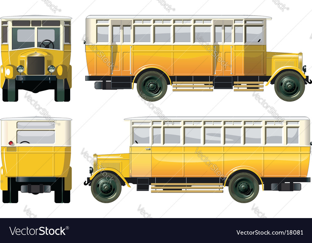 Vintage city bus 30-s vector | Price: 5 Credit (USD $5)
