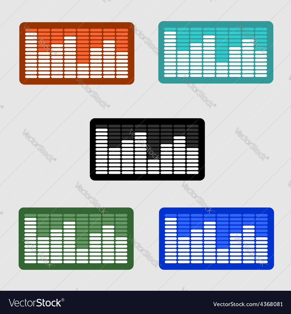 Volume control level icon on the screen monitor vector | Price: 1 Credit (USD $1)