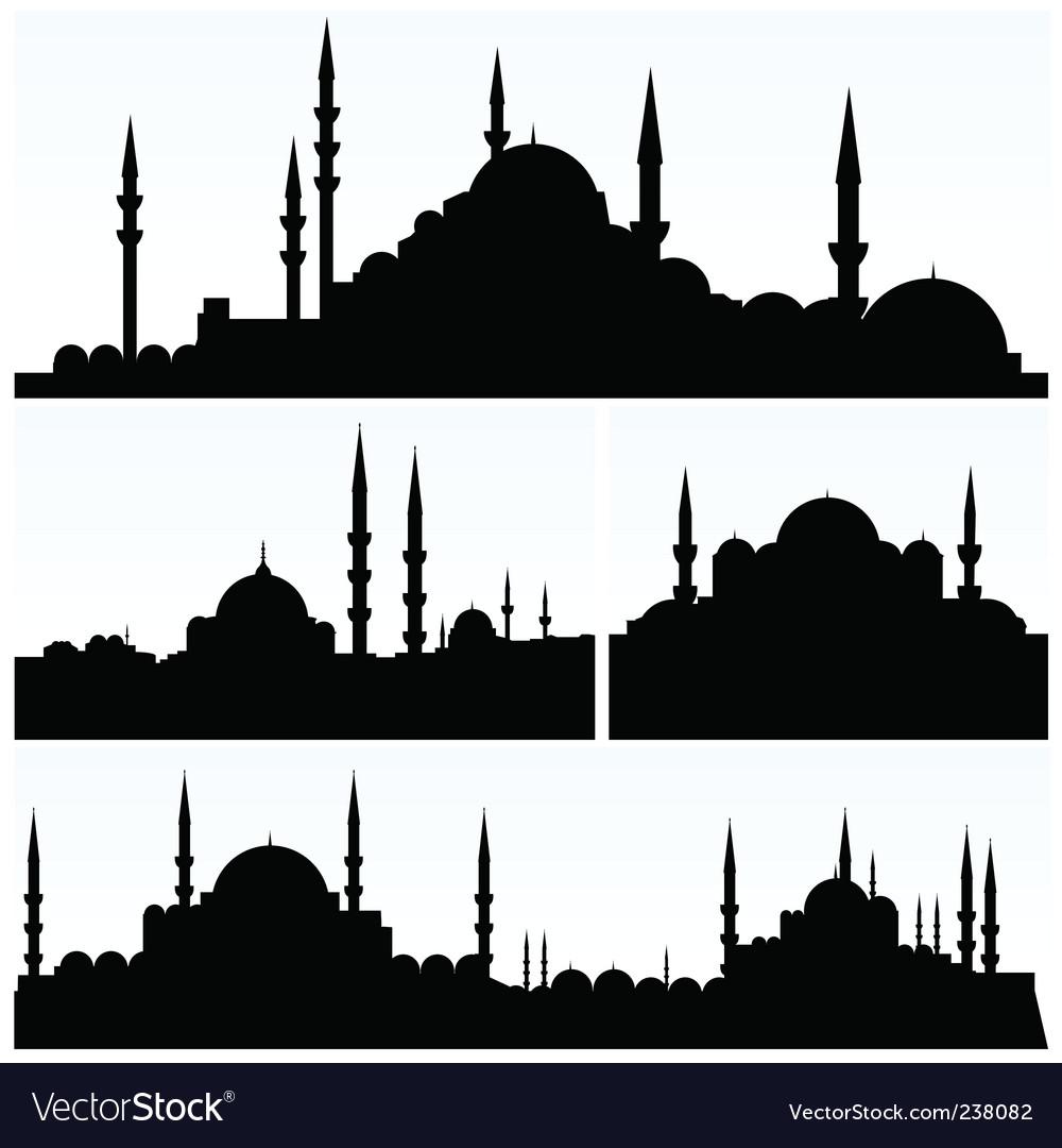 Arabesque cityscapes vector | Price: 1 Credit (USD $1)