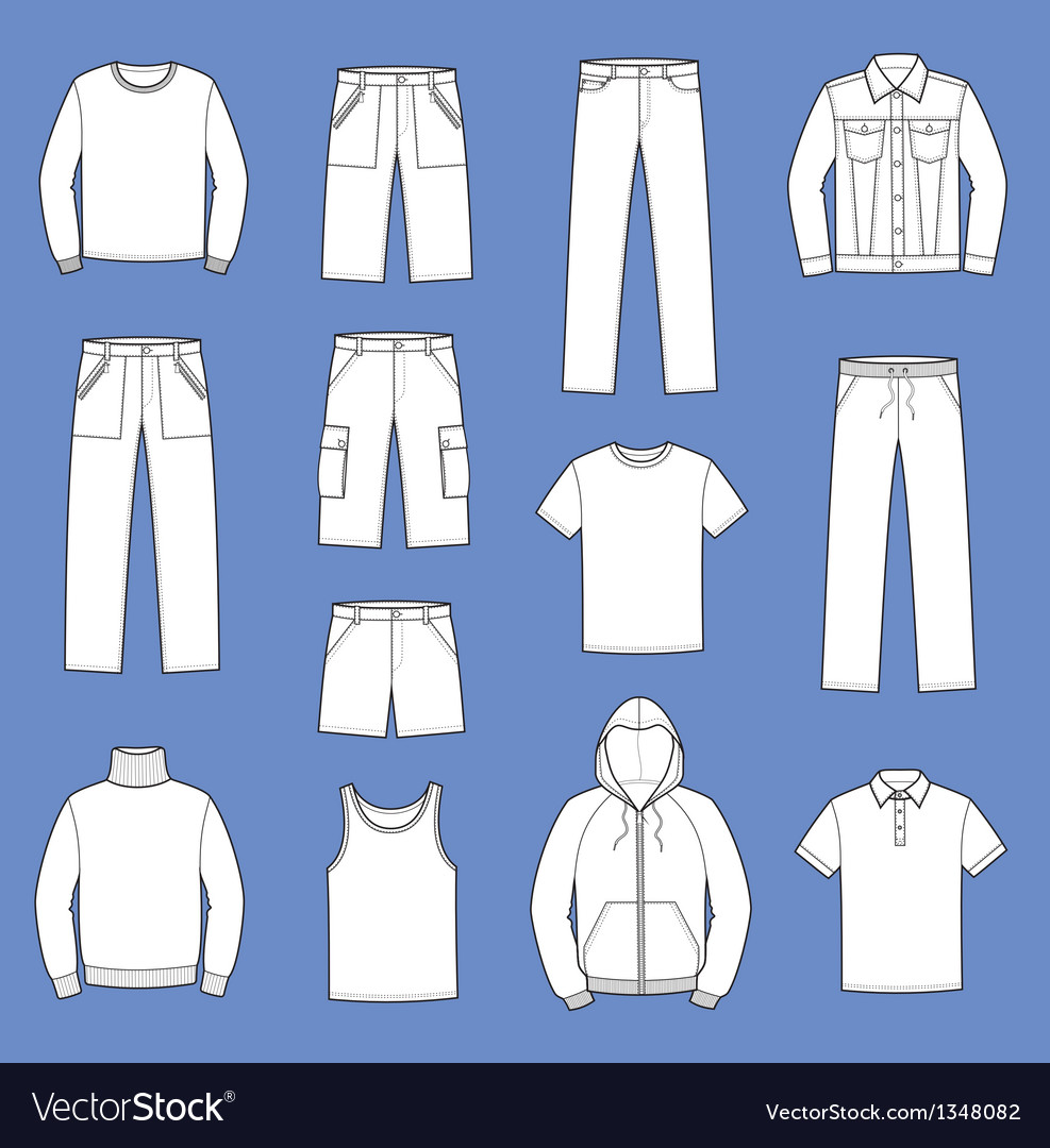 Casual clothes vector | Price: 1 Credit (USD $1)
