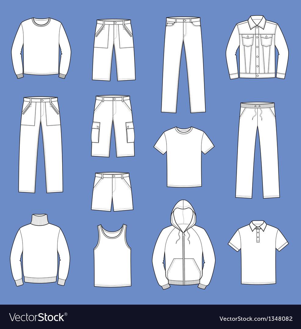 Casual clothes vector | Price: 1 Credit (USD $1)