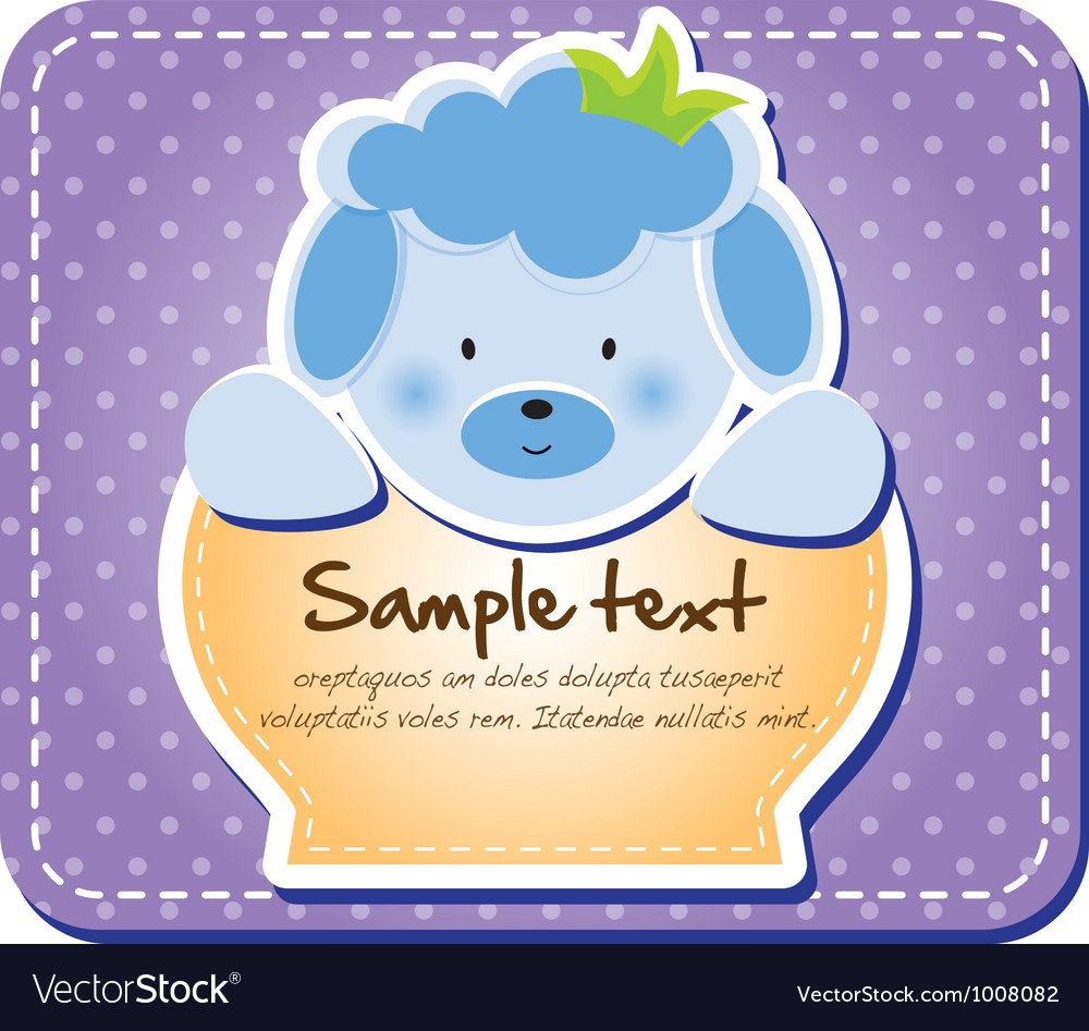 Cute animal tab vector | Price: 1 Credit (USD $1)
