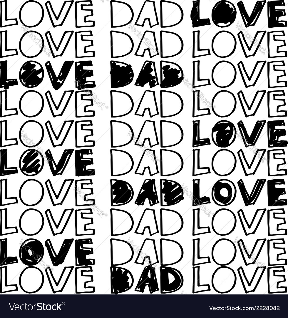 Dad love vector | Price: 1 Credit (USD $1)
