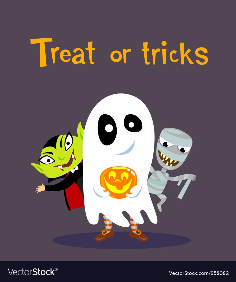 Halloween greeting card vector | Price: 3 Credit (USD $3)