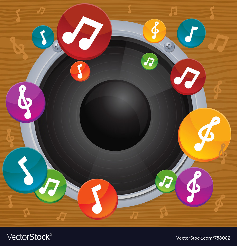 Music concept - dynamic with bright notes vector | Price: 1 Credit (USD $1)