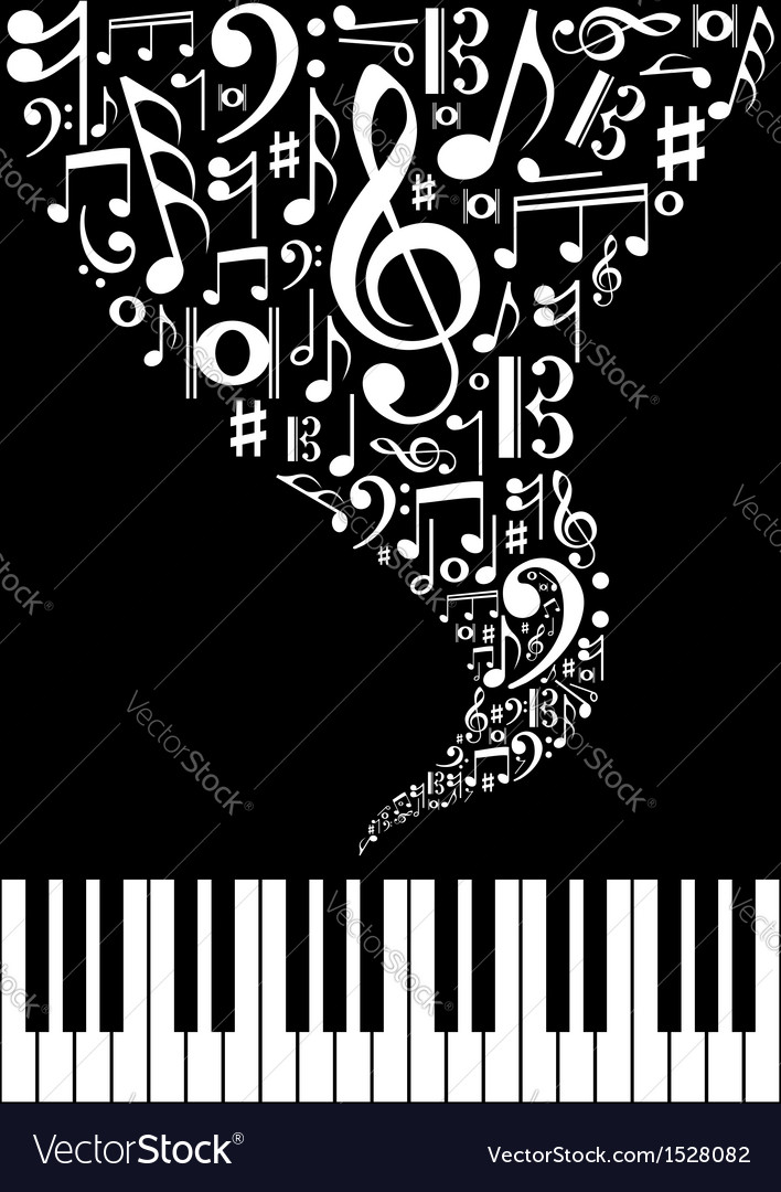 Music splash background vector | Price: 1 Credit (USD $1)