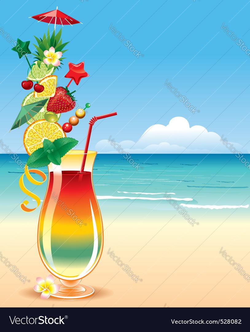 Tropical cocktai vector   Price: 3 Credit (USD $3)
