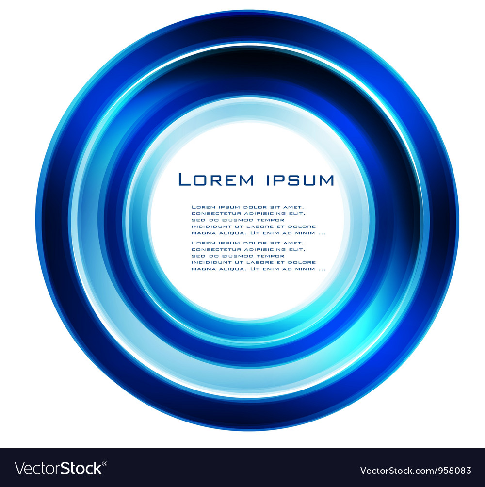 Abstract circle blue curve vector   Price: 1 Credit (USD $1)