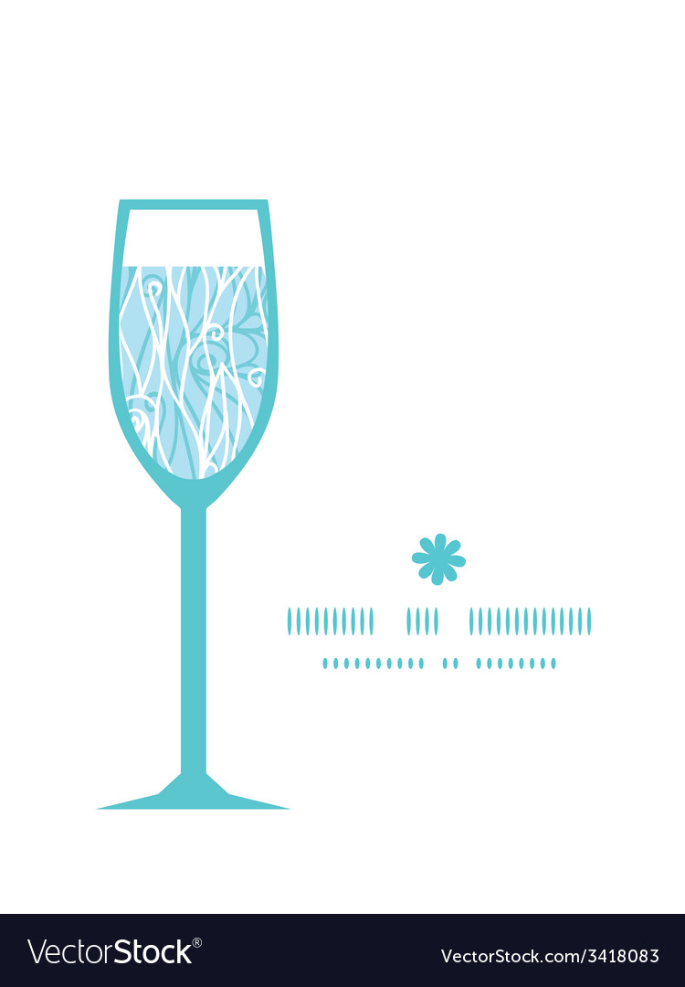 Abstract frost swirls texture wine glass vector   Price: 1 Credit (USD $1)