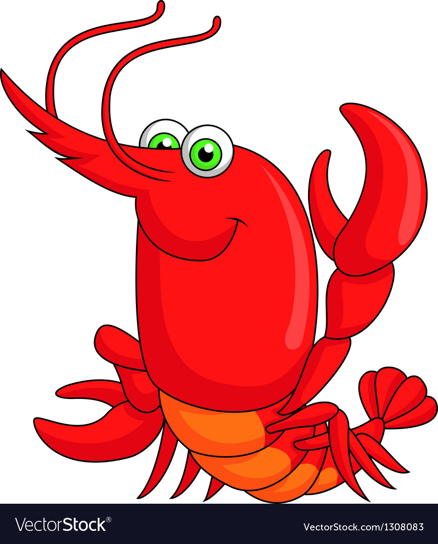Cute lobster cartoon vector | Price: 3 Credit (USD $3)