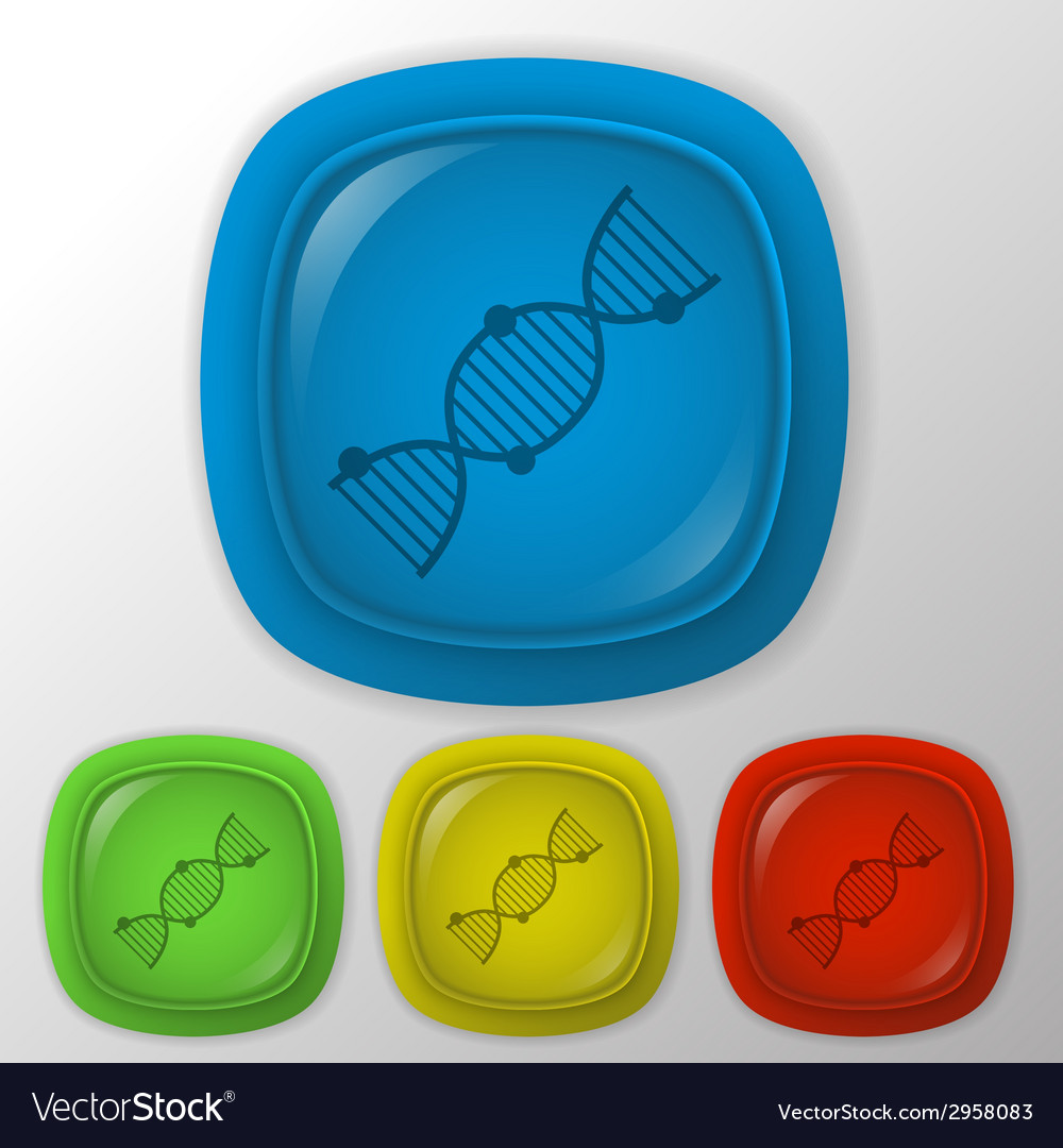Dna helix medical research character icon vector | Price: 1 Credit (USD $1)