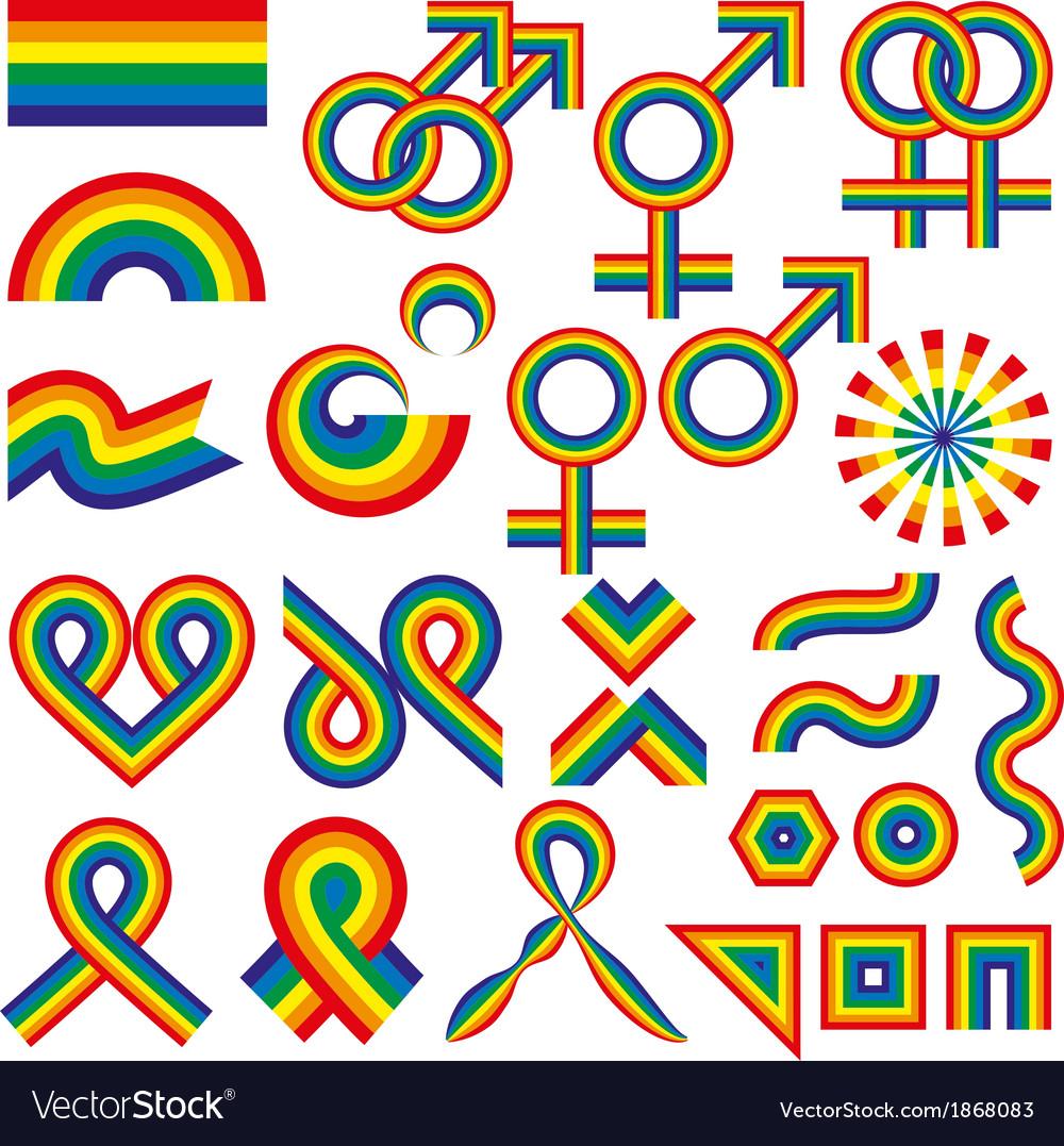 Gay symbolic vector | Price: 1 Credit (USD $1)