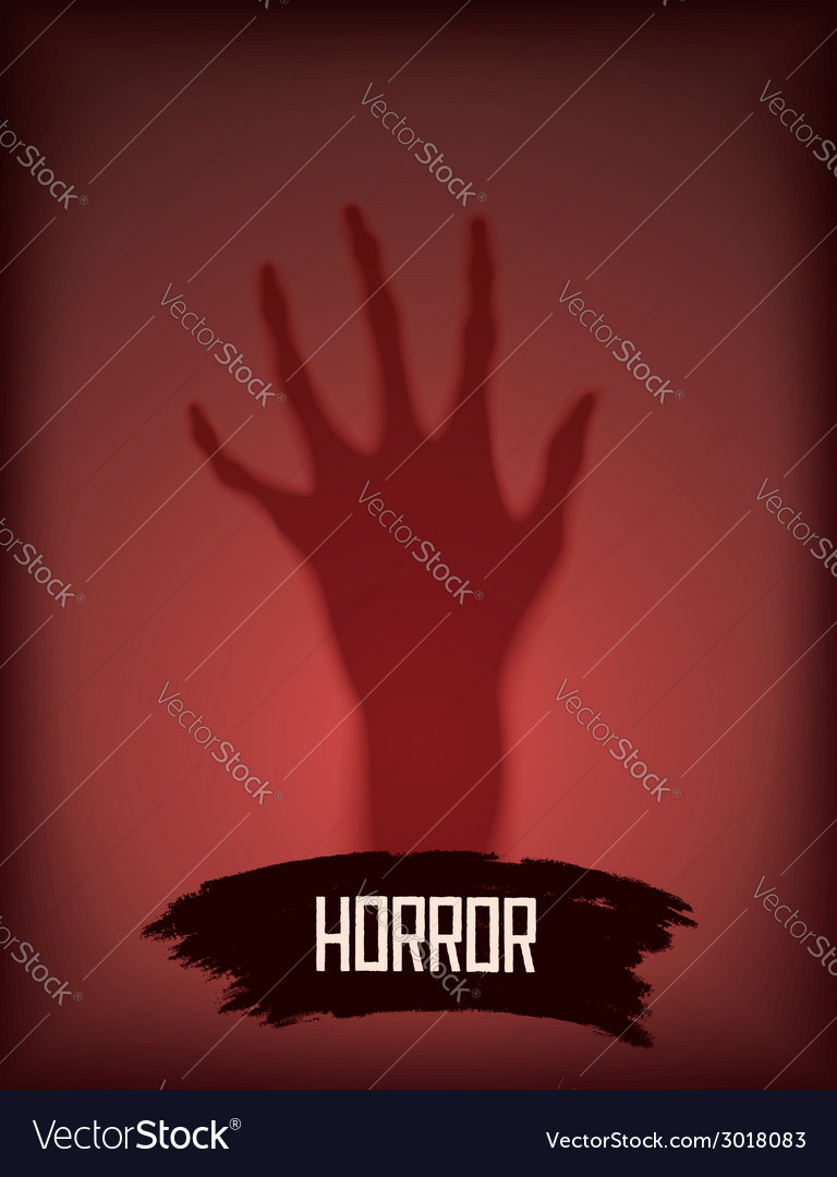 Horror background with hand vector | Price: 1 Credit (USD $1)