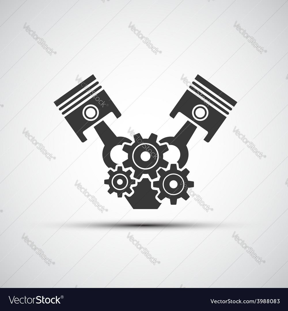 Icon of automotive engine vector | Price: 1 Credit (USD $1)