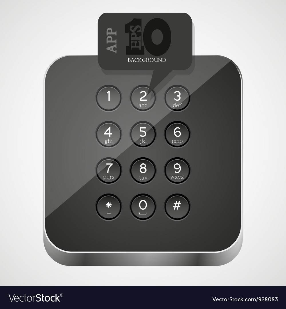 Keypad app icon vector | Price: 1 Credit (USD $1)