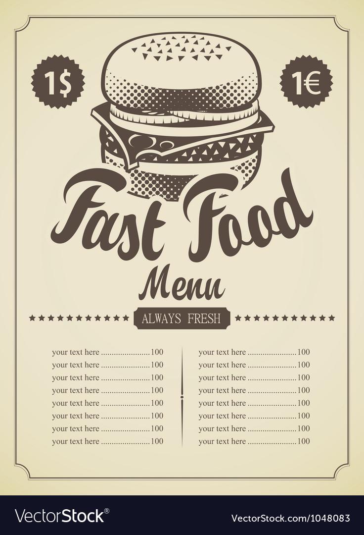 Retro hamburger vector | Price: 1 Credit (USD $1)