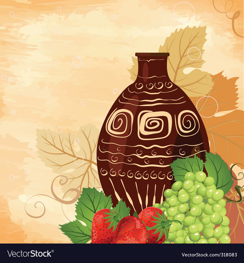 Still life wine set vector | Price: 1 Credit (USD $1)