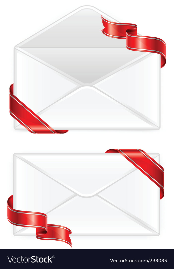Two envelopes with ribbon vector | Price: 1 Credit (USD $1)