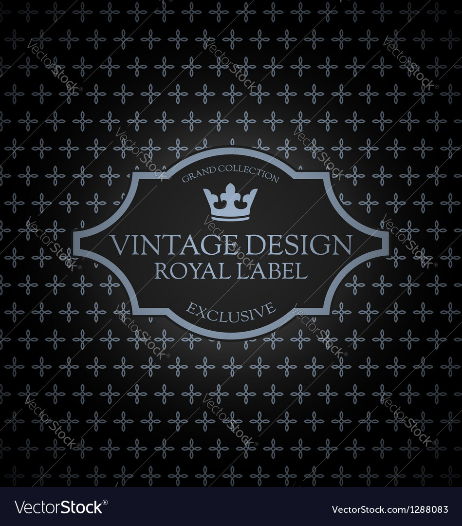 Vintage label card vector | Price: 1 Credit (USD $1)